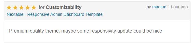 Nextable - Responsive Admin Dashboard Template - 1
