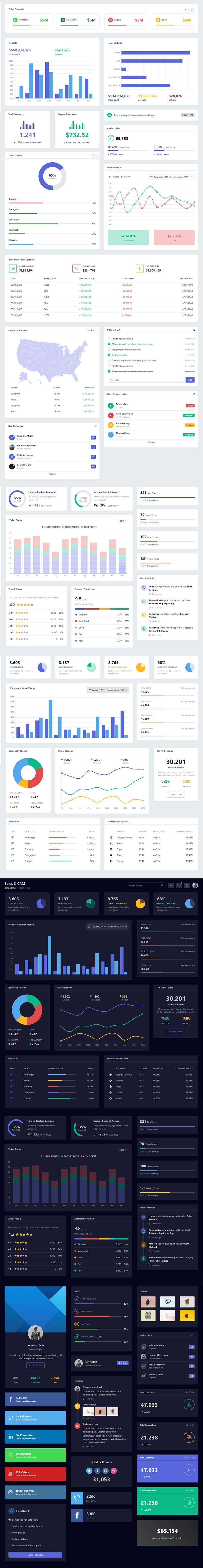 Nextable - Responsive Admin Dashboard Template - 2